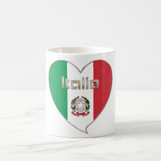 ITALY ITALY Souvenir NATIONAL FLAG in heart Coffee Mug