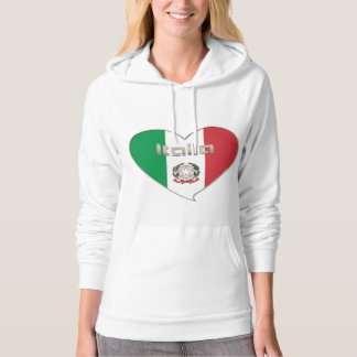 Italy ITALY Souvenir NATIONAL FLAG in heart Hoodie