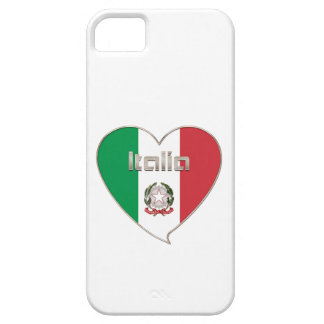 ITALY ITALY Souvenir NATIONAL FLAG in heart iPhone SE/5/5s Case