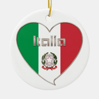 Italy ITALY Souvenir NATIONAL FLAG in heart
