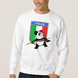 Men's Basic Sweatshirt with Italian Javelin Panda design