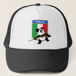 Trucker Hat with Italian Javelin Panda design