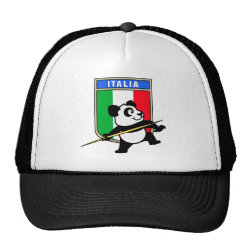 Trucker Hat with Italian Javelin Panda design