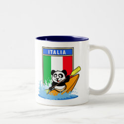 Two-Tone Mug with Italian Kayaking Panda design