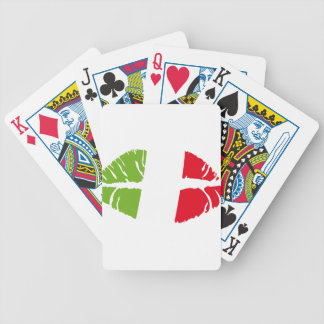 italy kiss bicycle playing cards