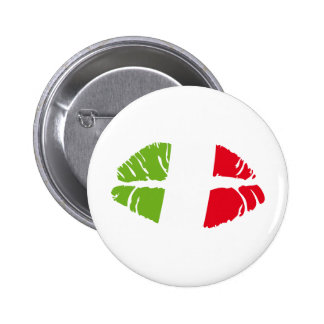 italy kiss pinback buttons