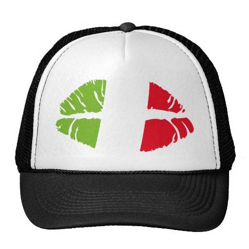 italy kiss mesh hat