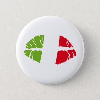 italy kiss pinback button