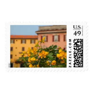 Italy, Lake Como, colorful architecture in Postage Stamp