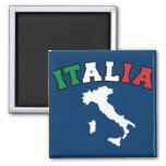 Italy Land 2 Inch Square Magnet