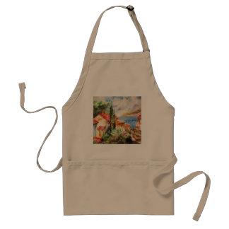 Italy landscape adult apron