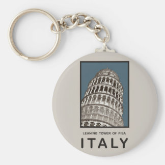 Italy Leaning Tower of Pisa Basic Round Button Keychain