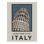 Italy Leaning Tower of Pisa Postcard