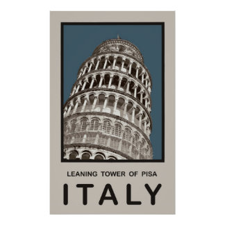 Italy Leaning Tower of Pisa Poster