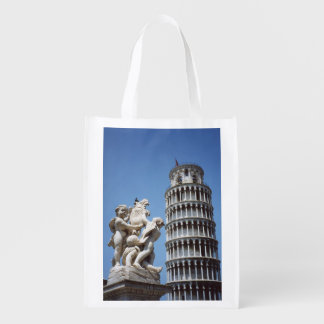 Italy Leaning Tower of Pisa Souvenir Grocery Bag