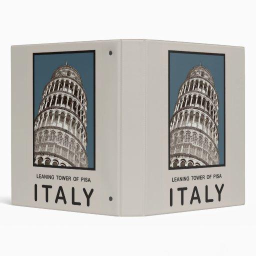 Italy Leaning Tower of Pisa Vinyl Binder
