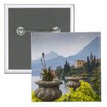 Italy, Lecco Province, Varenna. Villa Monastero, 2 2 Inch Square Button