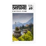 Italy, Lecco Province, Varenna. Villa Monastero, 2 Postage Stamps