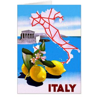Italy Lemon Roman Temple Flower Card