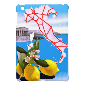 Italy Lemon Roman Temple Flower Cover For The iPad Mini