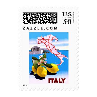 Italy Lemon Roman Temple Flower Postage