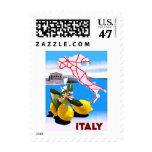 Italy Lemon Roman Temple Flower Stamp