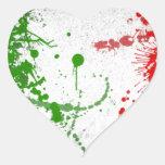 Italy line heart sticker