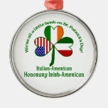 Italy Little Irish Metal Ornament