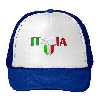 Italy logo flag of Italy shield for Italians Trucker Hats