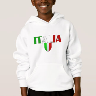 Italy logo flag of Italy shield for Italians Hoodie