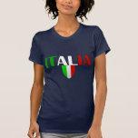 Italy logo flag of Italy shield for Italians Tshirts