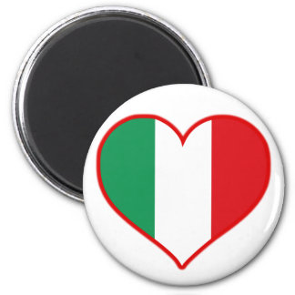 Italy Love 2 Inch Round Magnet