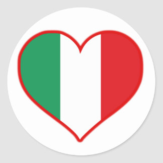 Italy Love Classic Round Sticker
