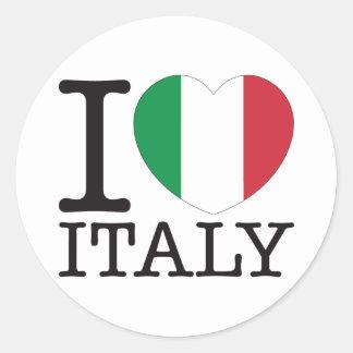 Italy Love v2 Round Sticker