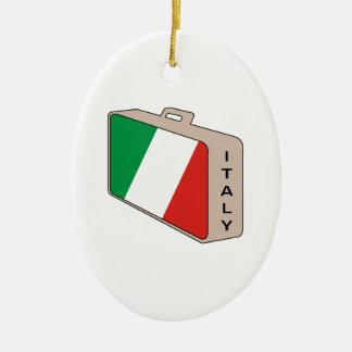 Italy Luggage Ceramic Ornament
