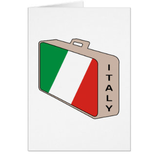 Italy Luggage Greeting Card