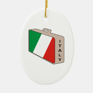 Italy Luggage Christmas Ornaments