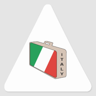 Italy Luggage Triangle Sticker