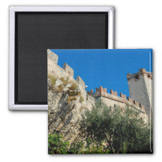 Italy, Malcesine, Lake Garda, Castle Scaligero Magnets
