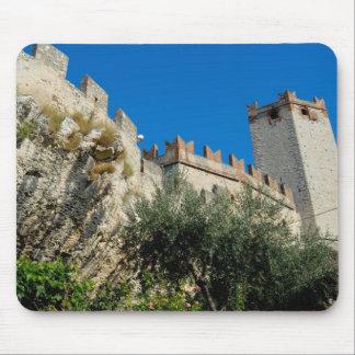 Italy, Malcesine, Lake Garda, Castle Scaligero Mouse Pad