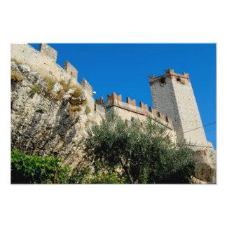 Italy, Malcesine, Lake Garda, Castle Scaligero Art Photo