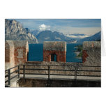 Italy, Malcesine, view from castle of Lake Greeting Card