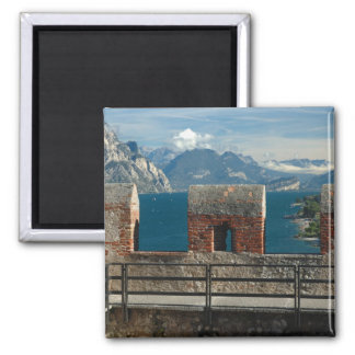 Italy, Malcesine, view from castle of Lake Fridge Magnets