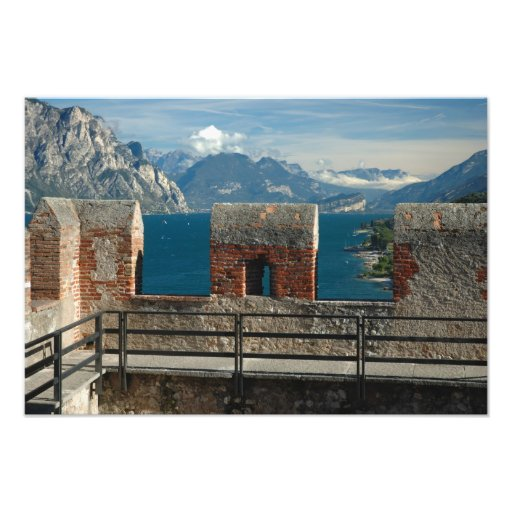 Italy, Malcesine, view from castle of Lake Photo Print