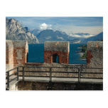 Italy, Malcesine, view from castle of Lake Postcard