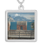 Italy, Malcesine, view from castle of Lake Square Pendant Necklace