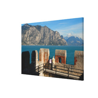 Italy, Malcesine, view from castle tower of Canvas Print