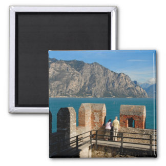Italy, Malcesine, view from castle tower of Magnet