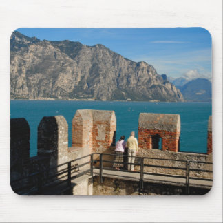 Italy, Malcesine, view from castle tower of Mouse Pad