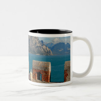 Italy, Malcesine, view from castle tower of Two-Tone Coffee Mug